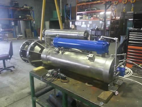 Subsea motors water jetting motor pump sets for for Waterproof submersible electric motors